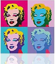 Declea MLYN-X4-60X60 Bild Marilyn Monroe Stil Andy