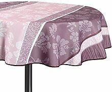 Déco de Traum 3663964358722Tischdecke rund Polyester Rosa 160x 160cm