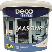 Deco Style Fassadenfarbe für Außenwände Weiß 5