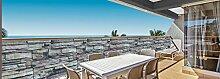 Deco4Me Balkonbespannung 90x500cm Sichtschutz