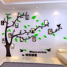 DecoBay DIY 3D Huge Menory Tree Wall Stickers Crystal Acrylic Photo Frame Home Decorations Arts (Grün Links, XXL)