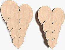 DECOCRAFT 10x 10x 10cm aus Holz groß/klein