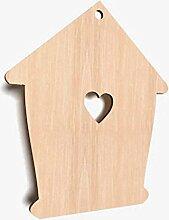 DECOCRAFT 10x Holz Love House Herz Formen