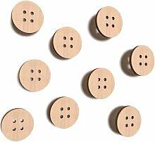 DECOCRAFT 30x Holz Knöpfe Kreis Form Nähen