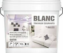 decohom 7111306058824gängigen Malerarbeiten Wände und Decken, Weiß, 10l