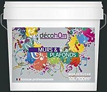 Decohom Einschicht-Wandfarbe, grau, 634154062616