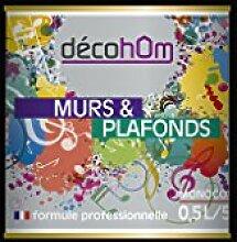 Decohom Einschicht-Wandfarbe, schwarz, 634154063132