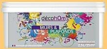 decohom Wandmalerei Monoschicht Satin 2,5l Jazz bernsteinfarben