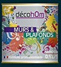 decohom Wandmalerei Monoschicht Velours 0,5l Jazz Blau von Mitternach
