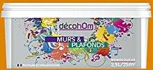 decohom Wandmalerei Monoschicht Velours 2,5l Jazz hellbraun