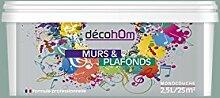 decohom Wandmalerei Monoschicht Velours 2,5l Klassische Mandel