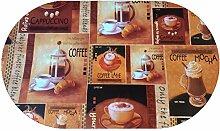 DecoHomeTextil Wachstuch Kaffee Tee Cappuccino