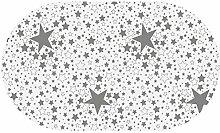 DecoHomeTextil Wachstuch Lurex Sterne Himmel RUND