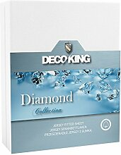 DecoKing 160x200-180x200 weiß Wasserbett