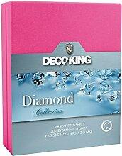 DecoKing 21620 Spannbettlaken 140 x 200 - 160 x