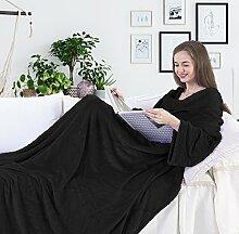 DecoKing 97298 TV-Decke 150x180 cm schwarz