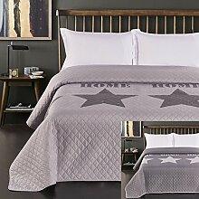 DecoKing Bettüberwurf zweiseitig Steppung Starly