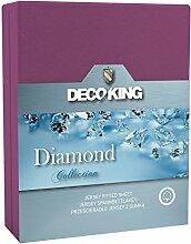 DecoKing Jersey Spannbettlaken 160x200-180x200 cm
