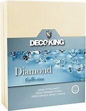 DecoKing Jersey Spannbettlaken 180x200-220x200 cm