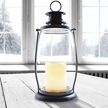 DecoKing LED Laterne LED Lampe 30 cm warmweiß