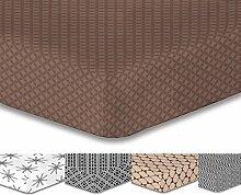 DecoKing Premium 95812 Spannbettlaken 200x220 Steg 30 cm braun Spannbetttuch Microfaser schoko brown chocolate Hypnosis Arthur 2