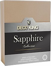 DecoKing Spannbettlaken Jersey Boxspringbett