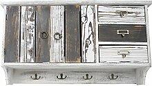 Decoline Holz Garderobe weiß grau