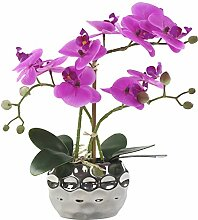 Decoline Künstliche Orchidee 33cm - Blüten lila