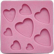 DeColorDulce Herz-Backform, Silikon, Pink, 7x