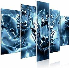 decomonkey Bilder Abstrakt 200x100 cm 5 Teilig