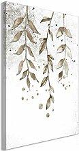 decomonkey Bilder Blätter 60x90 cm 1 Teilig