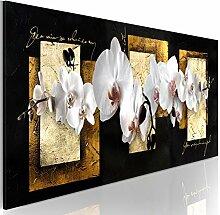 decomonkey Bilder Blumen 135x45 cm 1 Teilig