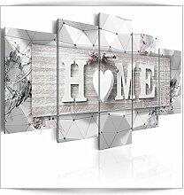 decomonkey Bilder Home 100x50 cm 5 Teilig