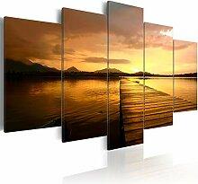 decomonkey Bilder Landschaft 100x50 cm 5 Teilig