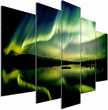 decomonkey Bilder Polarlicht 225x100 cm 5 Teilig