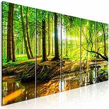 decomonkey Bilder Wald 200x80 cm 1 Teilig