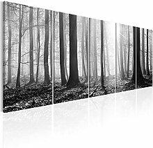 decomonkey Bilder Wald 225x90 cm XXL 5 Teilig