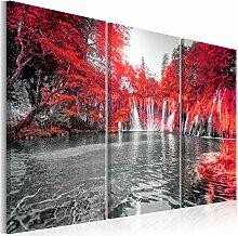 decomonkey Bilder Wasserfall Wald 60x40 cm 3