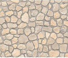 decomonkey Fototapete 3d Steinwand 400x280 cm XXL