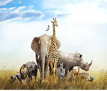 decomonkey Fototapete Afrika Tiere 300x210 cm XL