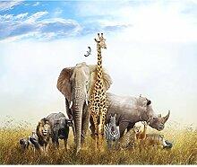 decomonkey Fototapete Afrika Tiere 400x280 cm XL