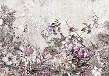 decomonkey Fototapete Blumen 150x105 cm Design