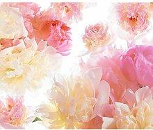 decomonkey Fototapete Blumen 196x140 cm