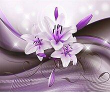 decomonkey Fototapete Blumen Lilien 350x256 cm XL