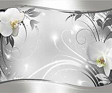 decomonkey Fototapete Blumen Orchidee 350x256 cm