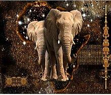 decomonkey Fototapete Elefant Abstrakt 400x280 cm