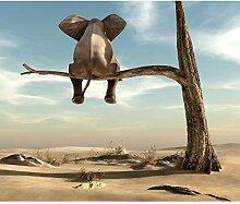 decomonkey Fototapete für Kinder Elefant 300x210