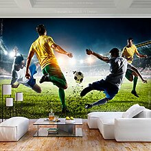decomonkey Fototapete Fußball 250x175 cm XL