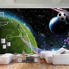 decomonkey Fototapete Fußball 350x256 cm XL