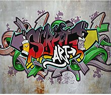 decomonkey Fototapete Graffiti 250x175 cm Design